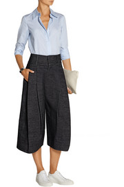 Wilson pleated denim culottes