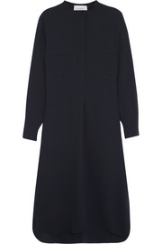 Robinson wool-crepe shirt dress