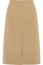 Agnes stretch-wool skirt