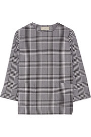 Lucinda checked wool top