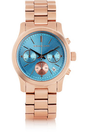 Rose gold-tone watch