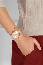 Brinkley crystal-embellished rose gold-tone watch