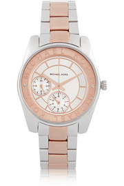 Michael Kors Ryland rose gold and silver-tone watch