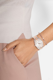 Ryland rose gold and silver-tone watch