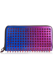 Panettone spiked patent-leather continental wallet