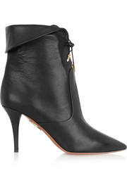 Aquazzura Tribeca textured-leather ankle boots