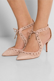 Theo Studs cutout suede pumps