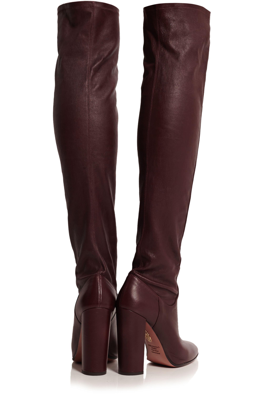 Aquazzura Kensington leather over-the-knee boots