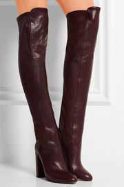 Kensington leather over-the-knee boots