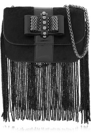 Christian Louboutin Sweet Charity fringed leather and calf hair shoulder bag