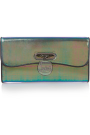 Riviera iridescent leather clutch