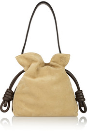 Flamenco Knot small suede shoulder bag