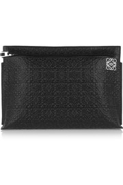 Loewe Large embossed leather clutch