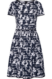 Printed stretch-cotton dress