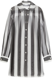 Seawind striped silk-organza shirt