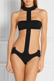 La Perla Anchor cutout neoprene swimsuit