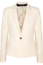 Stretch-crepe blazer