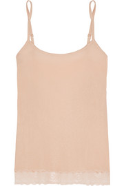 Silk Breath Leavers lace-trimmed silk-blend jersey camisole