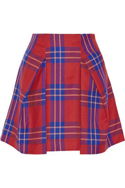 Trail tartan wool mini skirt