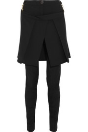 Vivienne Westwood Anglomania Kilt-detailed woven skinny pants