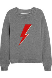 Sane lightning bolt-intarsia cashmere sweater