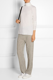 The Elder Statesman Cashmere and silk-blend turtleneck sweater