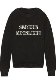 Serious Moonlight intarsia cashmere sweater