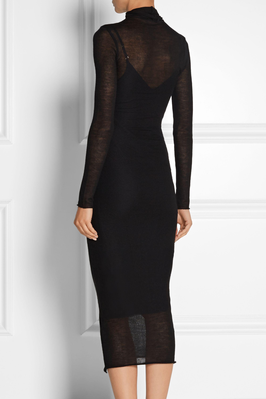 The Elder Statesman Cashmere and silk-blend turtleneck dress