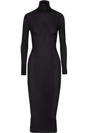 Cashmere and silk-blend turtleneck dress