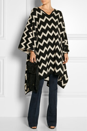 The Elder Statesman Ziggy reversible cashmere poncho