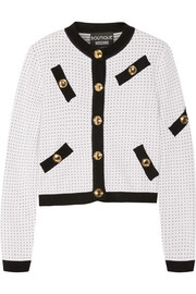 Boutique Moschino Polka-dot knitted cardigan