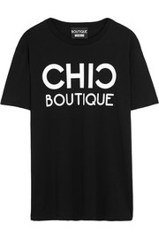 Chic Boutique printed cotton-jersey T-shirt