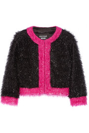 Two-tone tinsel-covered jacket