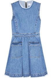 Flared denim mini dress