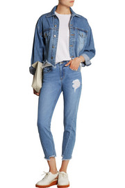 Cut-off denim jacket