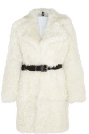 Morrell leather-trimmed shearling coat