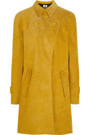 David suede trench coat