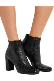 Babies cracked-leather ankle boots