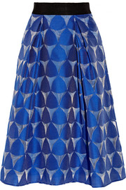 Katie grosgrain-trimmed fil coupé skirt