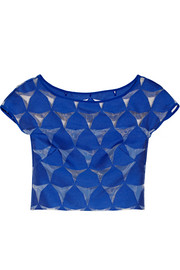 Prism cropped fil coupé top