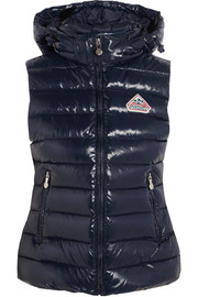 Spoutnic quilted glossed-shell down gilet