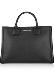 Klassik textured-leather tote