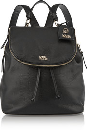 Karl Lagerfeld Textured-leather backpack