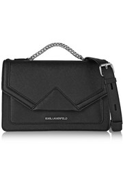 Klassik textured-leather shoulder bag