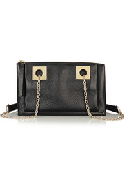 Hailey textured-leather shoulder bag