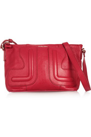 Kay textured-leather shoulder bag