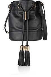 Vicki textured-leather bucket bag