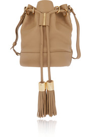Vicki textured-leather shoulder bag