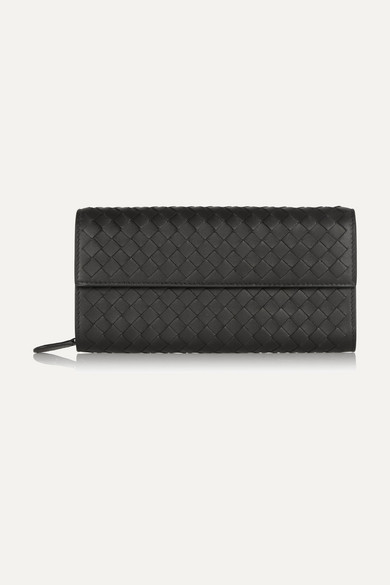 bottega veneta female bottega veneta intrecciato leather wallet black