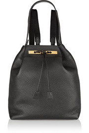 The Row 9 textured-leather backpack